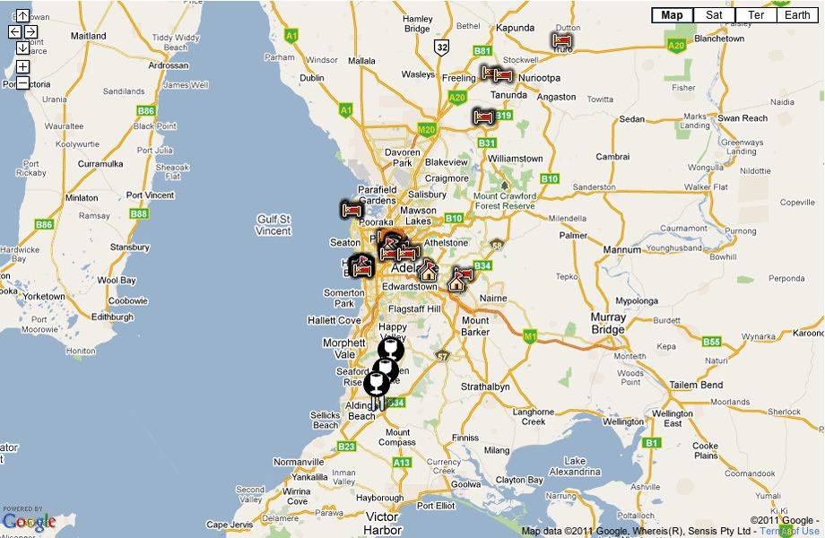Map Of Adelaide Australia.Adelaide South Australian Attractions Iview South Australia
